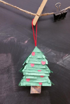 Cardboard Holiday Tree Ornament Project