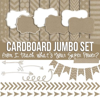 Cardboard Jumbo Bundle Papers and Clipart