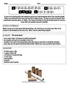 Cardboard Nouns STEM Lesson