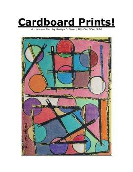 Cardboard Prints!! Art Lesson!!!