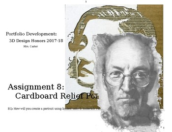 Cardboard Relief Portraits
