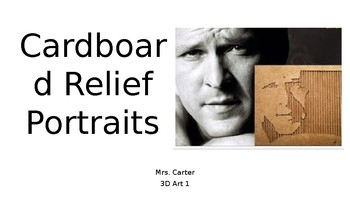 Cardboard Relief Portraits Slideshow Presentation