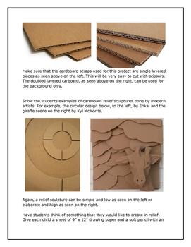Cardboard Relief Sculptures!