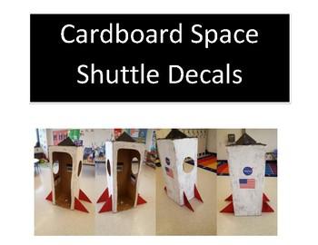 Cardboard Space Shuttle Spacecraft Decals
