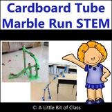 Cardboard Tube Marble Run STEM