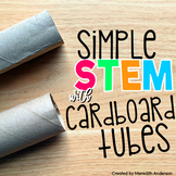 Cardboard Tube STEM Activities - Toilet Paper Roll Challenges Distance Learning