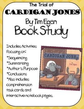 Cardigan Jones Book Study:Organizers and Interactive Notebook Pages