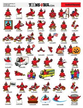 Cardinal Clipart Set