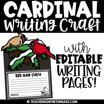 Cardinal Craft & Writing Activity   Red and Lulu Activities
