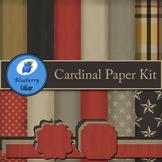 Cardinal Digital Paper Set - Warm, Dark colors