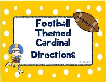 Cardinal Direction Football themed Classroom Signs