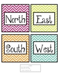 Chevron Cardinal Direction Labels