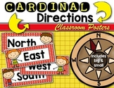 Cardinal Direction {Posters} Mapping with Kindergarten & First Grade