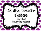 Cardinal Direction Posters One Color