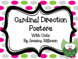 Cardinal Direction Posters with Owls
