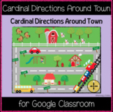 Cardinal Directions Around Town (Great for Google Classroom)