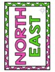 Cardinal Directions Signs {plus Intermediate Directions!} Color and B&W Posters