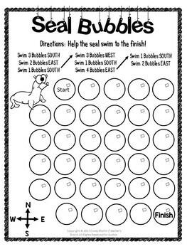 Cardinal Directions Kindergarten and 1st Grade