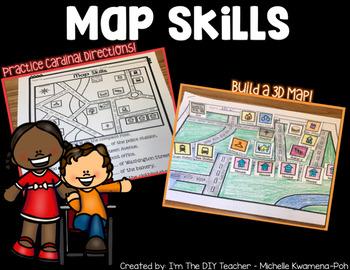 Cardinal Directions (Map Skills) -  Mini Pack