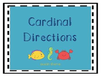 Cardinal Directions Poster-Ocean Theme  FREEBIE