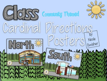 Cardinal Directions Posters: Community Themed!