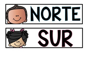 Cardinal Directions Posters *FREEBIE* In English and Spanish
