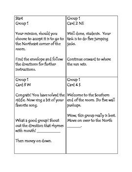 Cardinal Directions Treasure Hunt Game & Printable by Making Model ...