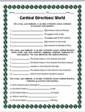 Cardinal Directions Worksheets