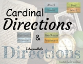 Cardinal Directions and Intermediate Directions Vintage Theme