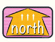 Cardinal Directions (chevron - pink and orange)