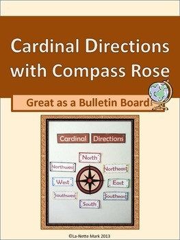 Cardinal Directions with Compass Rose