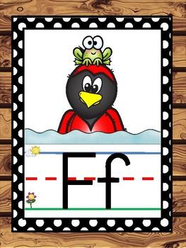 Cardinal Mascot Alphabet Line Classroom Decor