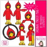 Cardinal Mascot clip art - Mini - by Melonheadz Clipart