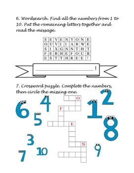 Cardinal Numbers 1-10