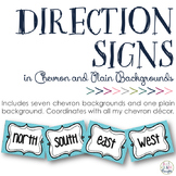 Cardinal & Ordinal Direction Signs: Chevron