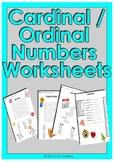 Cardinal / Ordinal Number Worksheets