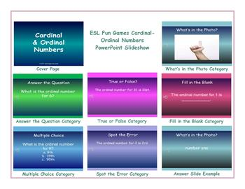 Cardinal-Ordinal Numbers PowerPoint Slideshow