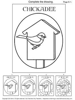 Cardinal and Chickadee Art Activity Pintables