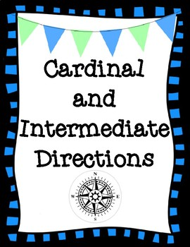 Cardinal and Intermediate Directions Classroom Signs & Cards