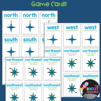 Cardinal and Intermediate Directions Go Fish Game