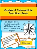 Cardinal and Intermediate Directions game and leveled cards, WITH vid instructns