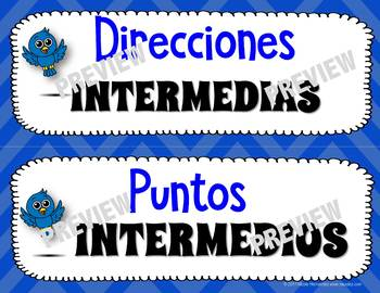 Cardinal and Intermediate (Ordinal) Direction Posters and Word Wall Cards