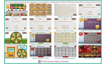 Cardinal and Ordinal Numbers Kooky Class Spanish PowerPoint Game