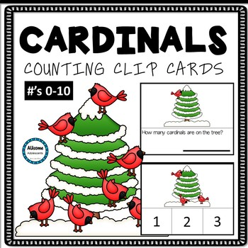 Cardinals Counting Clip Cards