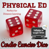 Cardio Exercise Dice - Distance Learning Activity for Phys