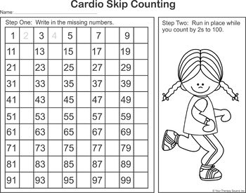 Cardio Skip Counting 2s, 5s and 10s - Movement and Learning