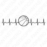 Cardio basketball SVG files for Silhouette Cameo and Cricut.