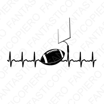 Cardio football SVG files for Silhouette Cameo and Cricut.