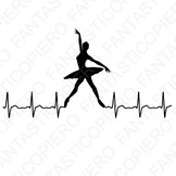 Cardio modern dancers SVG files for Silhouette Cameo and Cricut.