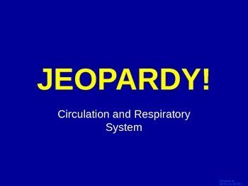 Cardiovascular  - Jeopardy Review